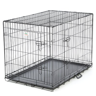 2 Door Folding Pet Crate Size: Medium (27.5 H x 24.5 W x 36 L)