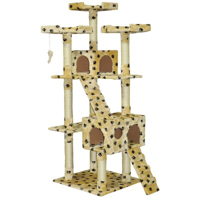 72 Mya Cat Tree Color: Paw Print