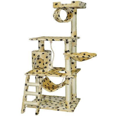 62 Paw Print Cat Tree