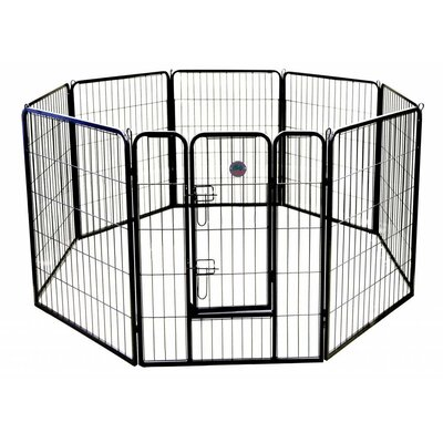 Heavy Duty Play and Exercise Pet Pen Size: 24 H x 30 W x 1 D