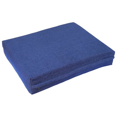 Orthopedic Pet Pillow with Waterproof Cover Size: Medium (36 L x 28 W), Color: Denim