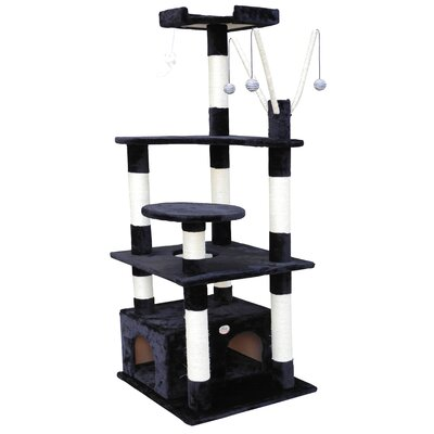 66 Cat Tree Color: Black