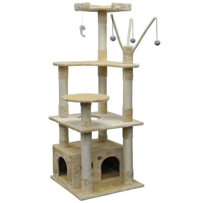 66 Cat Tree Color: Beige