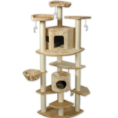 80 Cat Tree Color: Beige