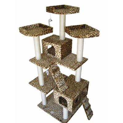 buy low price go pet club 72 cat tree in leopard color