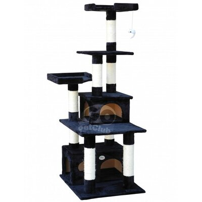 67 Condo House Cat Tree Color: Black