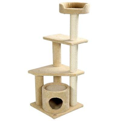 Premium 53 Carpeted Cat Condo