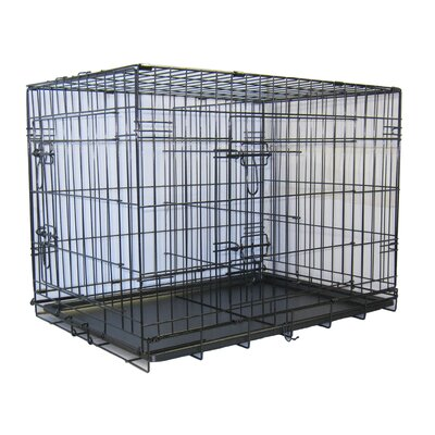 "Go Pet Club Folding Wire Dog Crate with Divider - Size: Small: 30"" L x 21"" W x 23"" H at Sears.com"