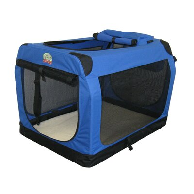 "Go Pet Club Travel Pet Crate in Blue - Size: 48"" - 48""L x 32""W x 32""H at Sears.com"