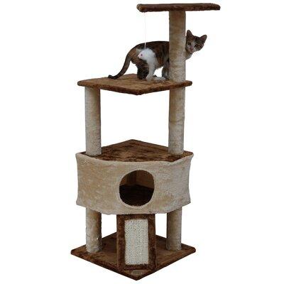 46 Kitten Cat Tree Color: Beige/Brown