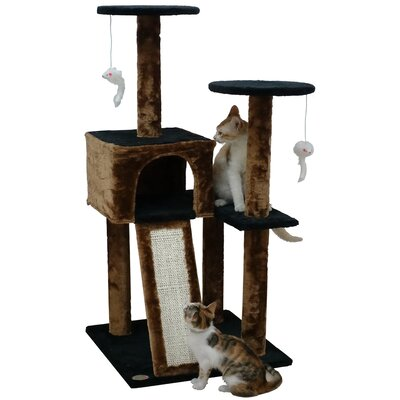 44 Kitten Cat Tree Color: Black/Brown