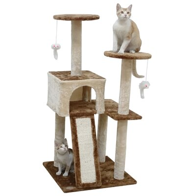 44 Kitten Cat Tree Color: Beige/Brown