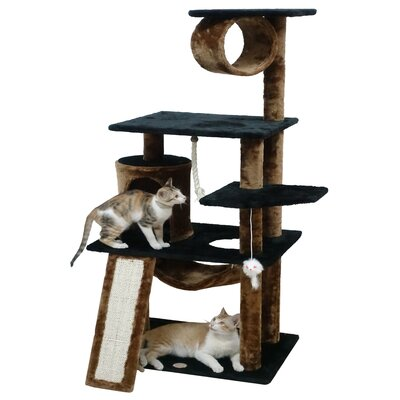 54 Kitten Cat Tree Color: Black/Brown