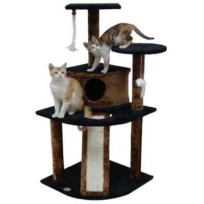 47 Kitten Cat Tree Color: Black/Brown