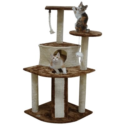 47 Kitten Cat Tree Color: Beige/Brown