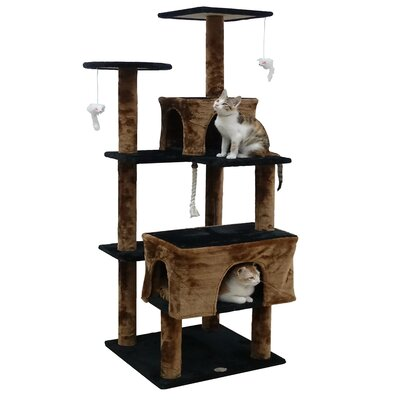 61 Kitten Cat Tree Color: Black/Brown