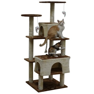 61 Kitten Cat Tree Color: Beige/Brown