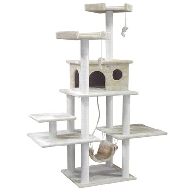 72 Faux Fur Cat Tree
