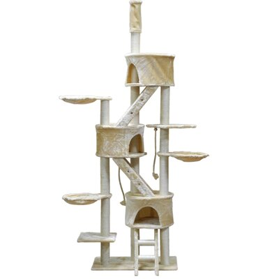 "Image of 106"" Cat Tree Color: Beige"