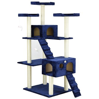 72 Cat Tree Color: Blue