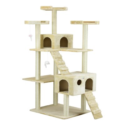 72 Cat Tree Color: Beige