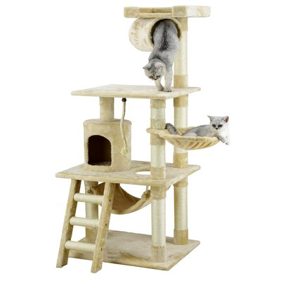 62 Mittens Cat Tree Color: Beige