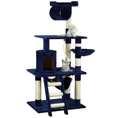 62 Mittens Cat Tree Color: Blue