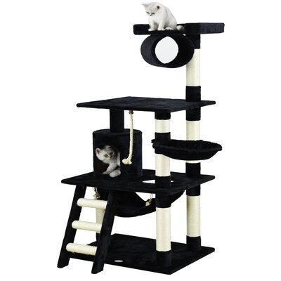 62 Mittens Cat Tree Color: Black