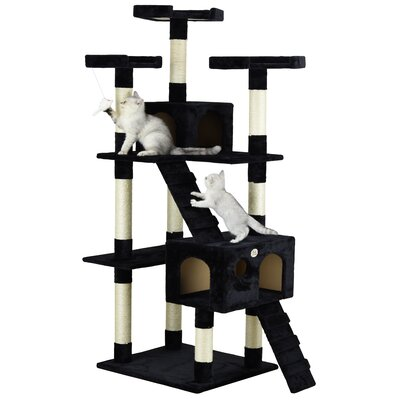 72 Mya Cat Tree Color: Black