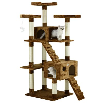 72 Mya Cat Tree Color: Brown
