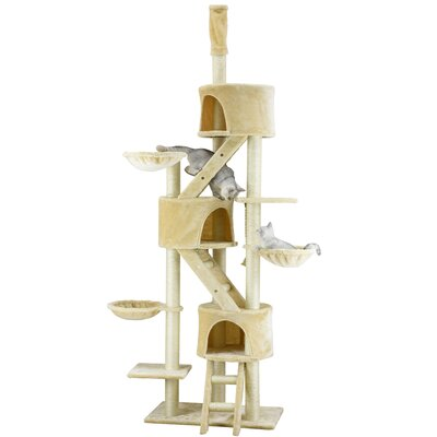 106 Three Condo Cat Tree Color: Beige