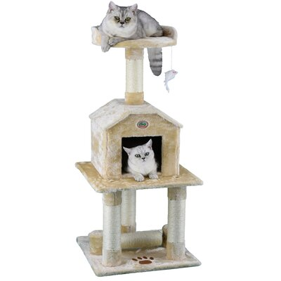 45 Cat Tree Color: Beige