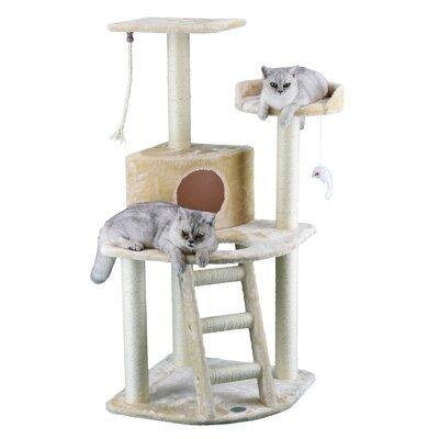 48 Faux Fur Cat Tree Color: Beige