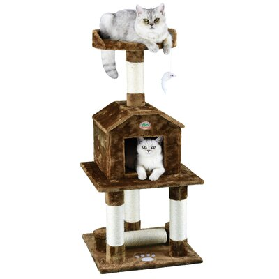 45 Cat Tree Color: Brown