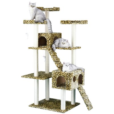 72 Leopard Cat Tree Color: Leopard Print
