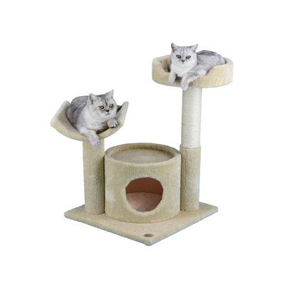 Premium 32 Carpeted Cat Condo