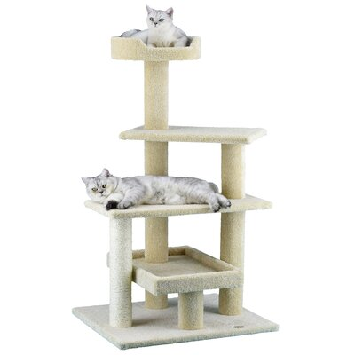Premium 44 Carpeted Cat Tree