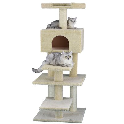 Premium 61 Carpeted Cat Condo