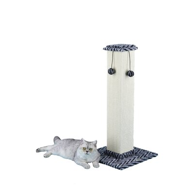 35 Cat Tree Color: Grey / Black