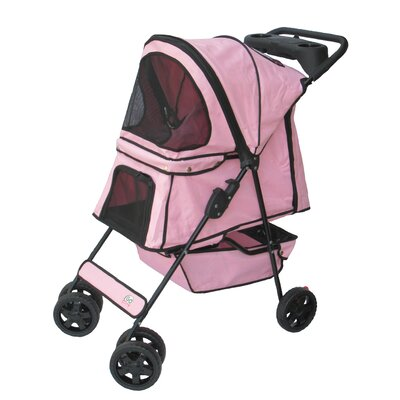 Standard Pet Stroller Color: Pink