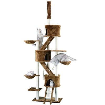 "Image of 106"" Cat Tree Color: Brown"