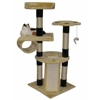 52 Faux Fur Wood Scratching Post Cat Trees and Condos