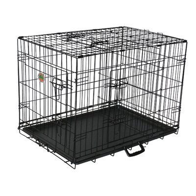 3 Door Pet Crate Size: Small (23 H x 21 W x 30 L)