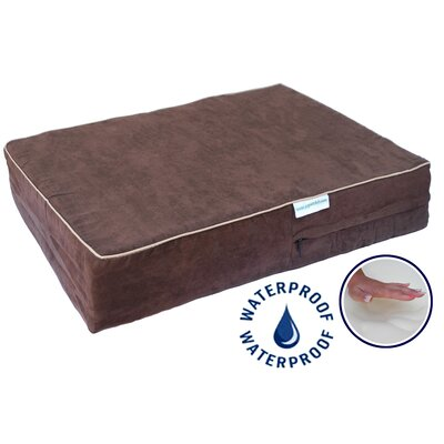 """Orthopedic Dog Pillow with Waterproof Cover Color: Chocolate, Size: Extra Large (55"""" L x 38"""" W)"""
