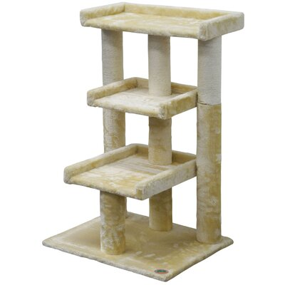 35 Cat Tree Color: Beige