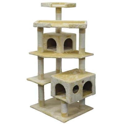 61 Cat Tree Color: Beige