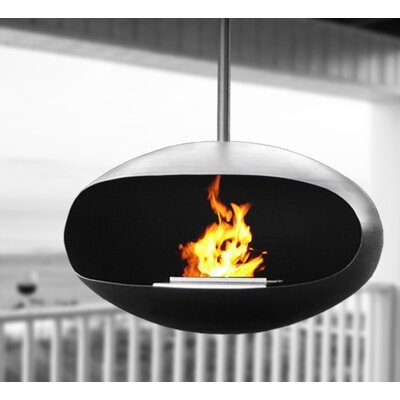 Cocoon Fireplace in Black