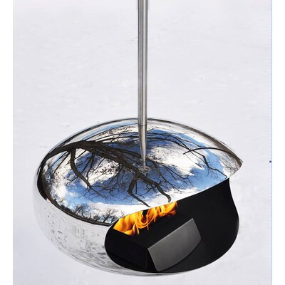Cocoon Fireplace in Stainless Steel