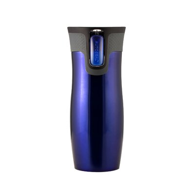 AutoSeal 16 oz Stainless Steel Double Wall Vacuum Insulated Tumbler in Blue