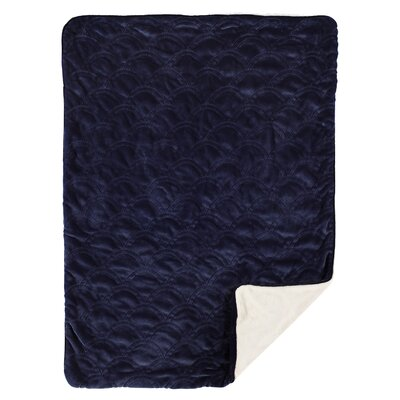 Scallop Embroidered Velour Blanket
